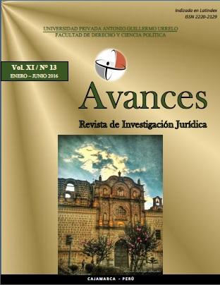 Avances: Revista de Investigación Jurídica